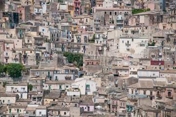 Panoramic view of Ragusa in Sicily