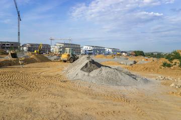 Bauarbeiten im Neubaugebiet