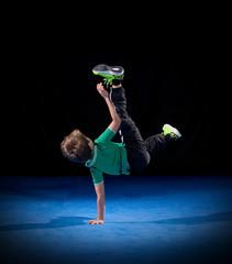 Little boy breakdancer