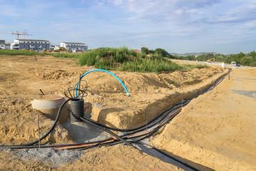 Kabelbau im Neubaugiet