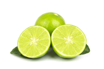 lime slice on white background, isolated
