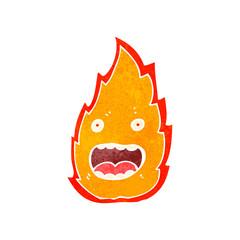 retro cartoon flame symbol