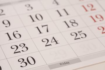 Calendar-Friday
