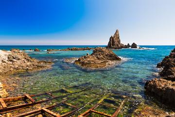 Seascape in Almeria, Cabo de Gata National Park, Spain Fototapete