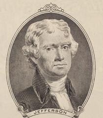 Portrait of first U.S. president Thomas Jefferson