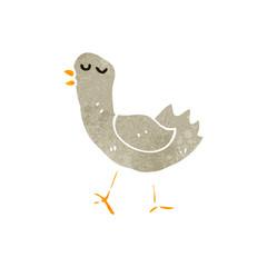 retro cartoon funny bird