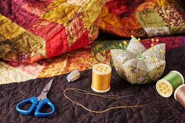 Accessories for patchwork on a quilt