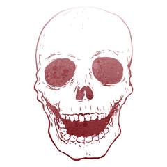 retro skull stencil