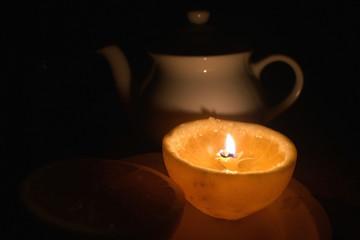 Orange oil-lamp
