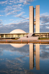Brazilian National Congress Building in Brasilia
