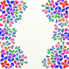 watercolor handmade design in vivid colors