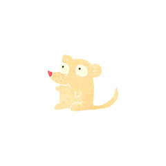 retro cartoon little mouse
