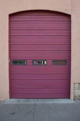 Magenta Garage Door
