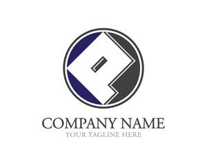 Rounded  Square P Letter Logo