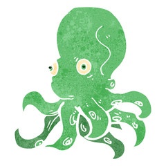 retro cartoon octopus