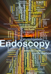 Endoscopy background concept glowing