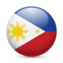 Round glossy icon of Philippines
