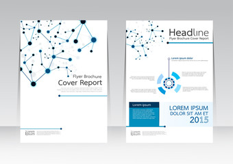 Abstract design vector template for brochure flyer in A4 size