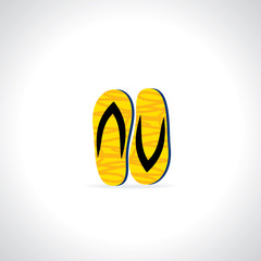 creative foot wear vector illustration
