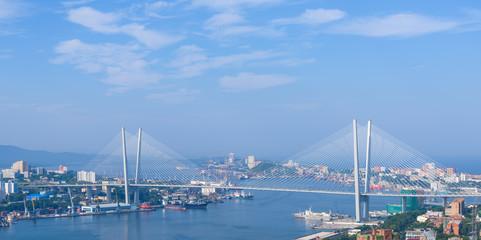 Vladivostok cityscape, daylight view.