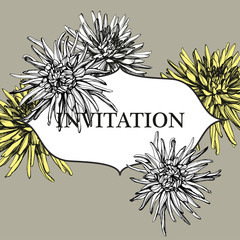 invitation dahlias