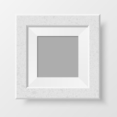 Realistic blank photo frame