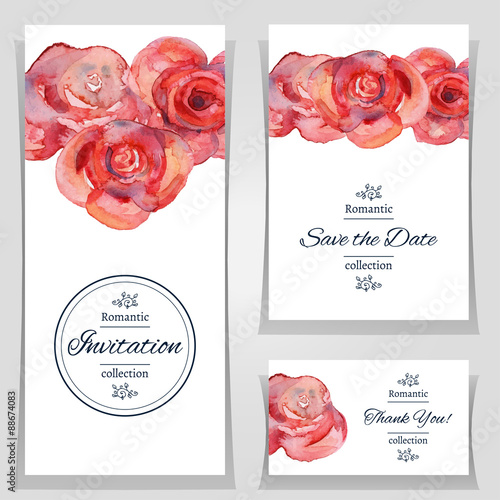 vector illustration save the date or wedding invitation templates