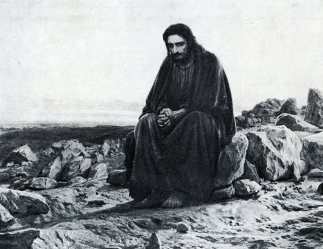 Christ in the Desert (Ivan Kramskoi, 1872)
