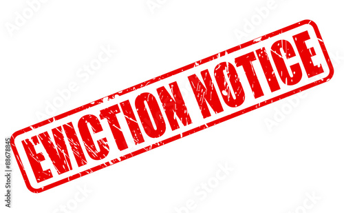 Eviction Notice Red Text Stock Image And RoyaltyFree Vector