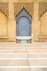 fountain in morocco africa old antique   mousque