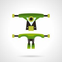 Longboard suspension flat vector icon