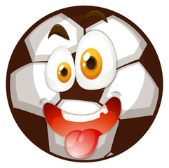 Football with happy face