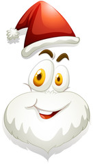 Happy face of Santa