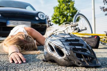 Fahrradunfall mit Auto