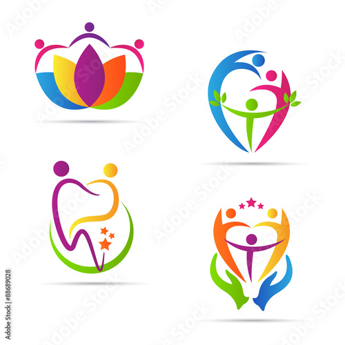 quotpeople care logo vector design represents family