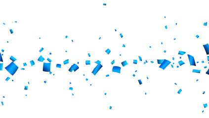 Blue confetti celebration banner.