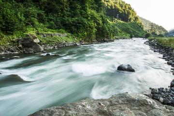 Foto auf Leinwand Fluss Mountain river