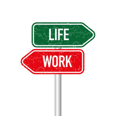 Work and life signpost