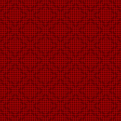 Seamless Chinese window tracery lattice square geometry line background.