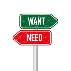 Want and need signpost