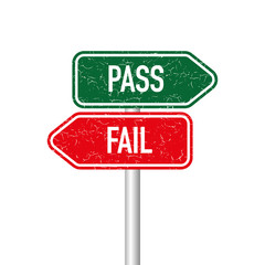 Pass and fail signpost