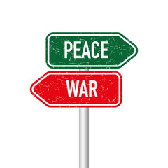 Peace and war signpost