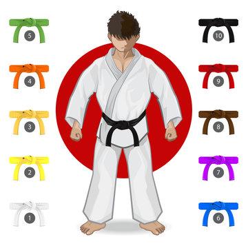 KARATE Martial Art Belt Rank System