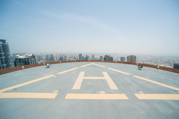 Helicopter area on a skyscraper