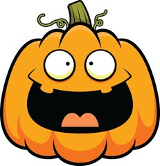 Cartoon Cute Pumpkin Happy