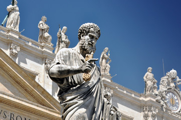 Statue of Saint Peter in Vatican city, Italy