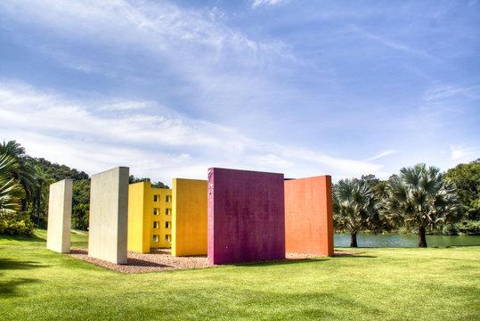 Colourful structure at Inhotim, Minas Gerais, Brazil