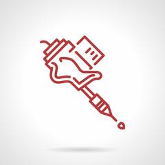 Tattoo machine grip line vector icon