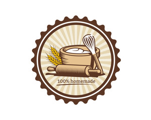 homemade cookies retro logo