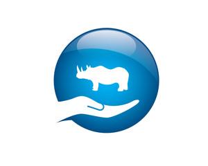 rhino in hand